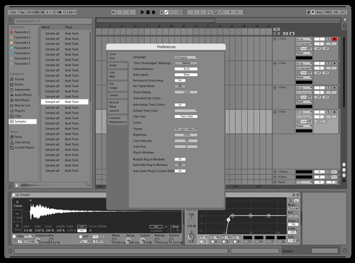 Black And White 2020 Theme for Ableton 10 by Matt Lashbrook