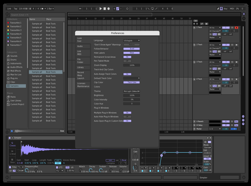 Violet Theme for Ableton 10 by ESAI