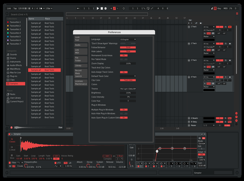 Cool Red Theme Theme for Ableton 10 by Christopher Naufel