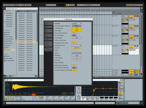 Live 9 Enhanced Theme for Ableton 10 by Recei
