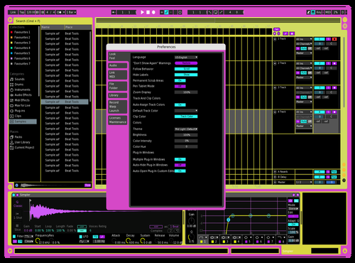 Theme gold Theme for Ableton 10 by Tritium