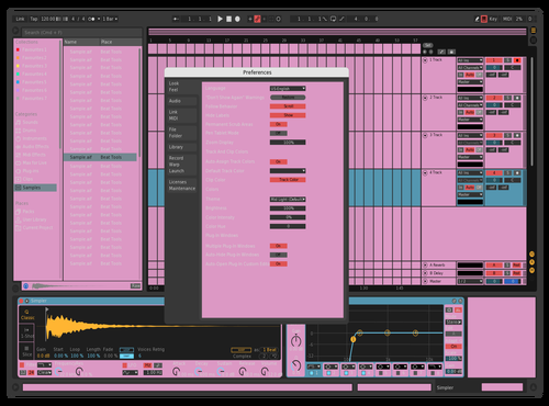 Sakura Theme for Ableton 10 by Dan