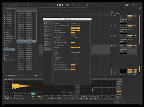 DefaultBlack Theme for Ableton 10 by RL88