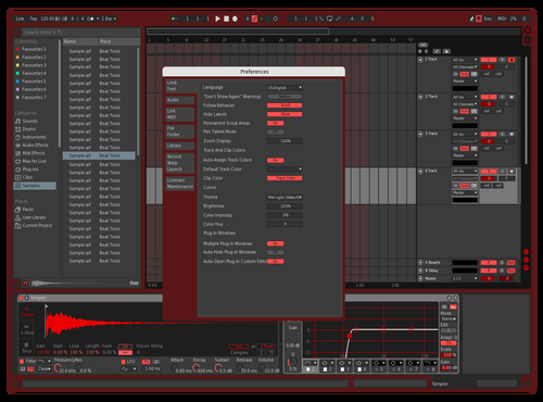 Red Theme for Ableton 10 by Dexlore