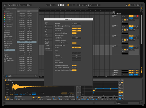 Yellow Blue Pop Theme for Ableton 10 by CYBEAR