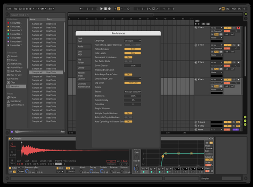 Test 001 Theme for Ableton 10 by retrochrome
