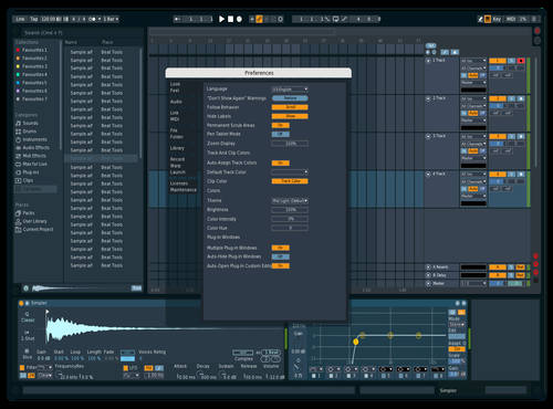 Baby Blue Theme for Ableton 10 by Lucas