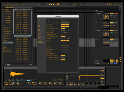 Black+orange Theme for Ableton 10 by Gabe