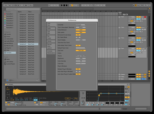 Mid Light Theme for Ableton 10 by BLESSKO