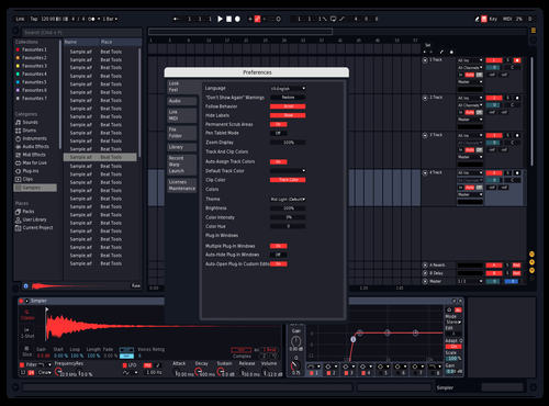 Red Theme for Ableton 10