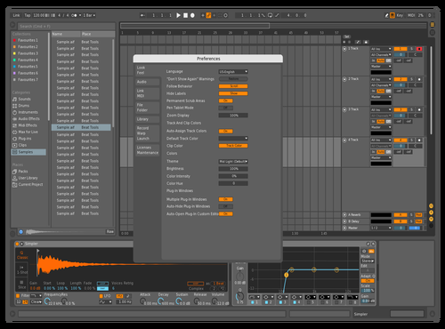 Mid orange Theme for Ableton 10 by Caio Fernando