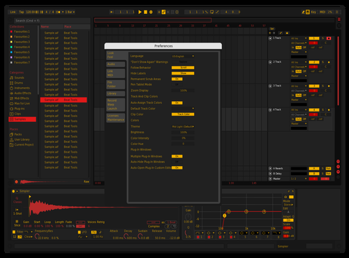 Red Gold Theme for Ableton 10 by gio.wav