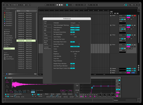 Neon Dark Theme for Ableton 10 by BetaCool