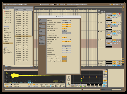 Choco Theme for Ableton 10 by kool