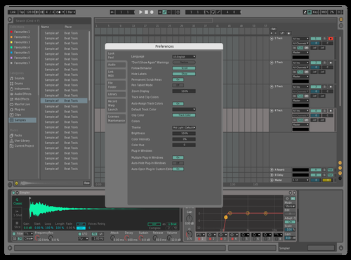 Shades Of Dark Theme for Ableton 10 by SNJAYZER