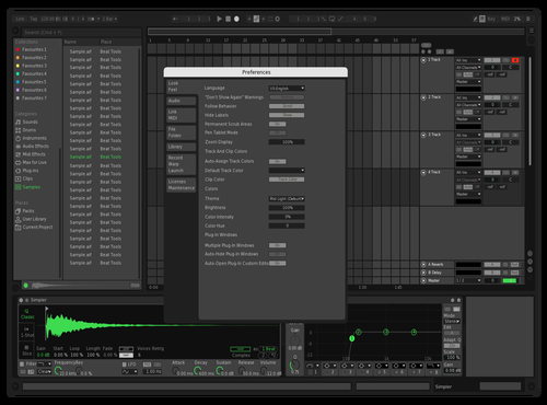 Spotify lighter Theme for Ableton 10 by EDBL
