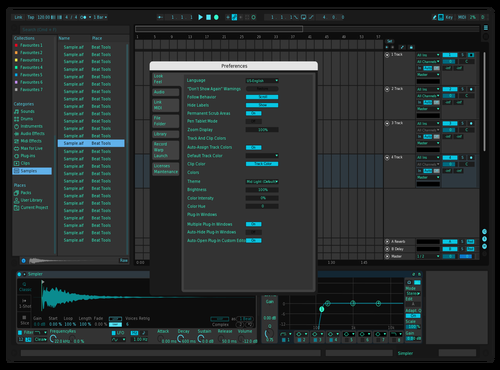 Dark Turquoise Theme for Ableton 10 by Vadim Giroudon