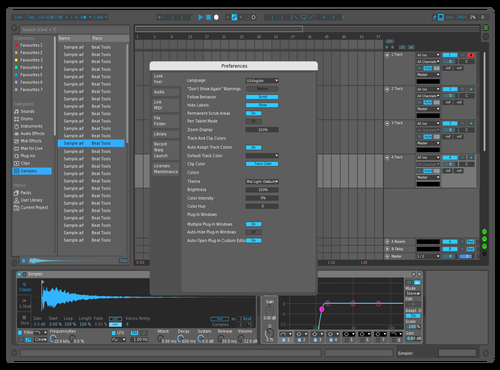 Mid Dark Blue Theme for Ableton 10 by adrian