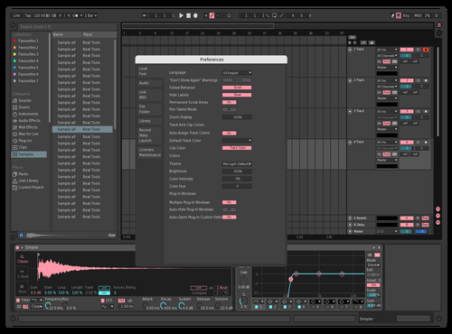 Dark Pink Theme for Ableton 10 by Andrew