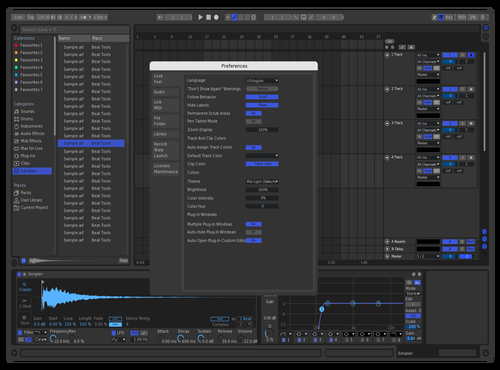 Blue on Black Theme for Ableton 10 by A to C