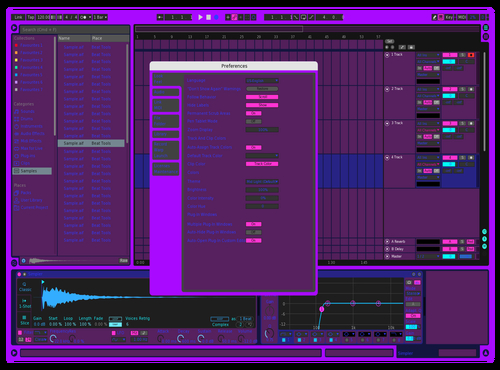 Blue and Purple Theme for Ableton 10 by Jonah Zachary Buck