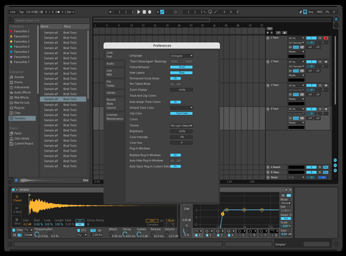 Dark Alternative automation Theme for Ableton 10 by axel