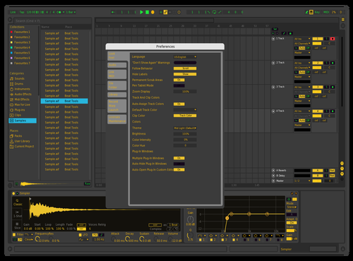 Yellow edit Theme for Ableton 10 by beane