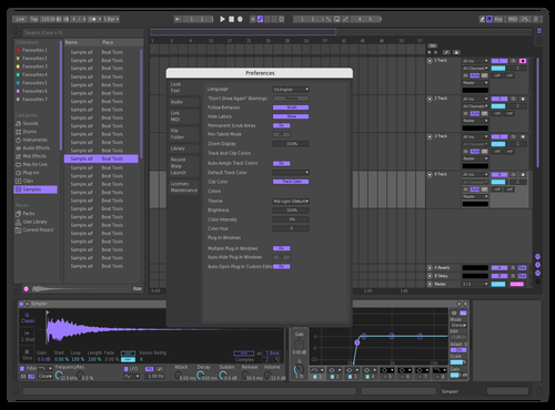 Better Purple Dark Version Theme for Ableton 10 by Skylar Kobren