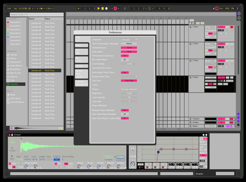 Pink n Green Theme for Ableton 10 by Brother Xah