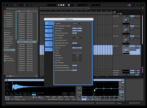 Light Blue Theme for Ableton 10 by Sergio Cabriales