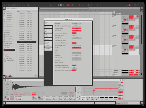 Massive X Red Theme for Ableton 10 by karoshi
