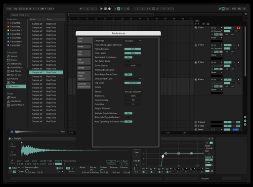 Sea Blue Theme for Ableton 10 by ananasek97