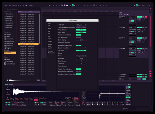 Custom by Maxun Theme for Ableton 10 by Maxun