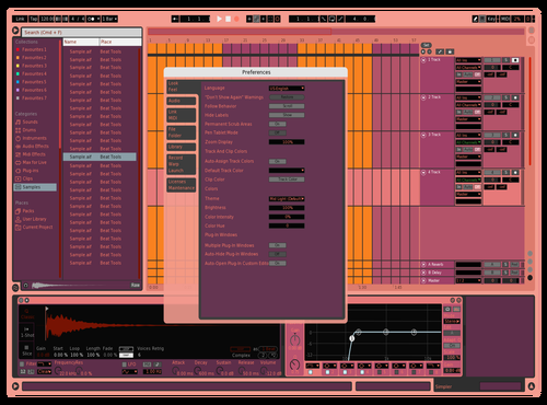 Lip stix Theme for Ableton 10 by Fletcher Hendrickson