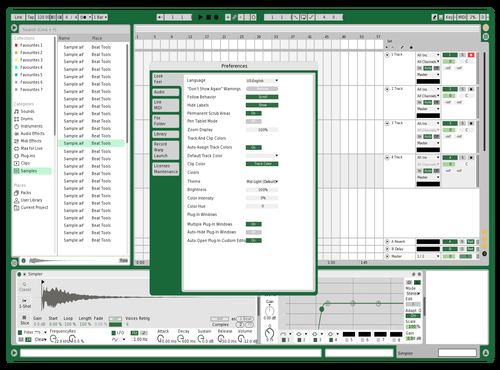 Excel Theme for Ableton 10 by Hank