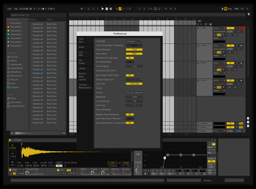 Compensating Darkness Theme for Ableton 10 by SupMan