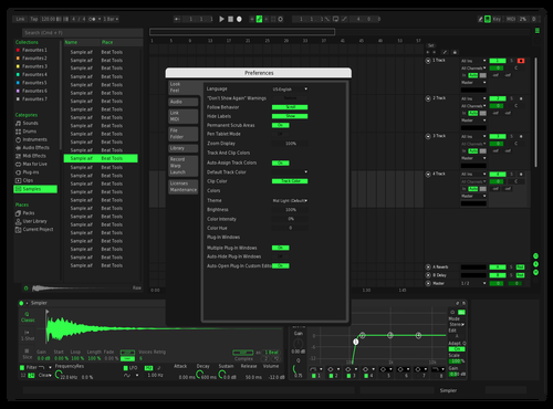 Night Green Theme for Ableton 10 by Kaelus Harmon