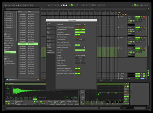 Green Machine Theme for Ableton 10 by Jordan Wagner