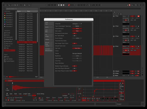 Red Blackk Theme for Ableton 10 by Frenchie Porter