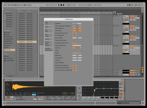 Runaway Theme for Ableton 10 by Ben