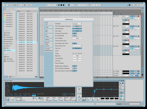Pastel Blue Theme for Ableton 10 by jovialmusic