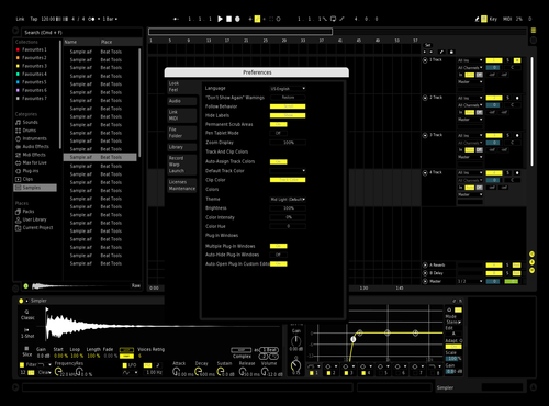 Yellow Theme for Ableton 10 by abu