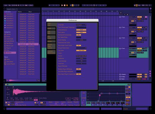Purple Night Theme for Ableton 10 by Pablo
