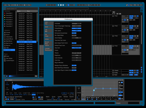 BlueBlackTest Theme for Ableton 10 by Gallian