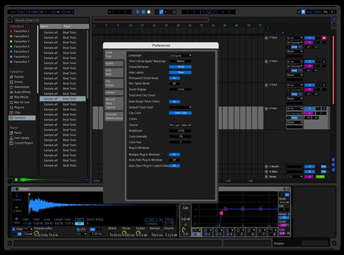 Lit up spaceship blue medium dark Theme for Ableton 10 by enas