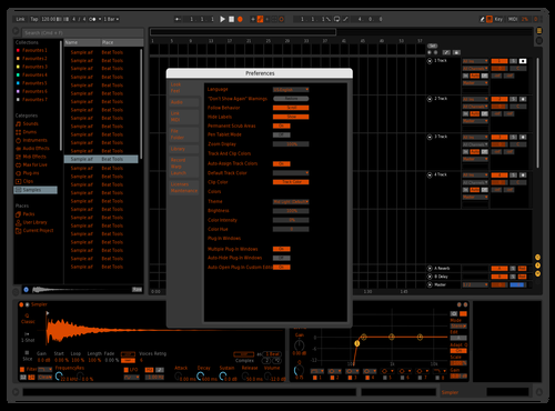 Orange is the new black Theme for Ableton 10 by COSMOPOLITANO