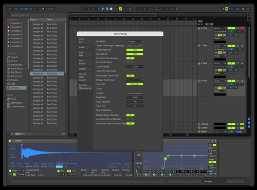 Krow808 Green DarkBlue Theme for Ableton 10 by Krow808