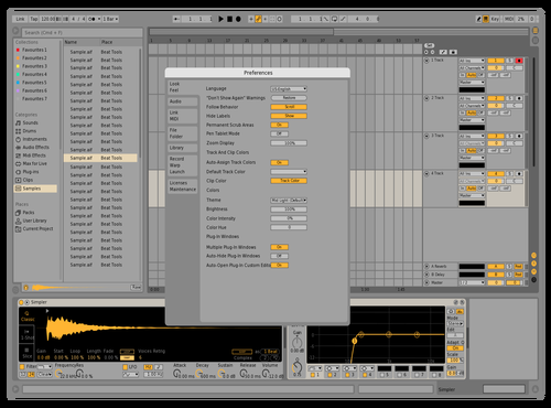 Bright Yellow Theme for Ableton 10 by I