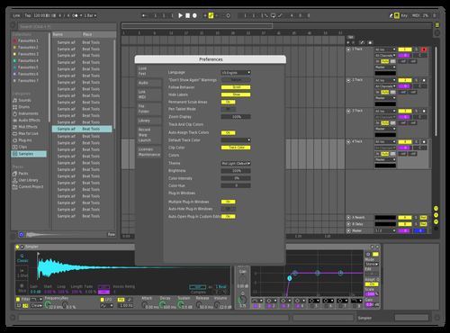Middarky Theme for Ableton 10 by Sascha