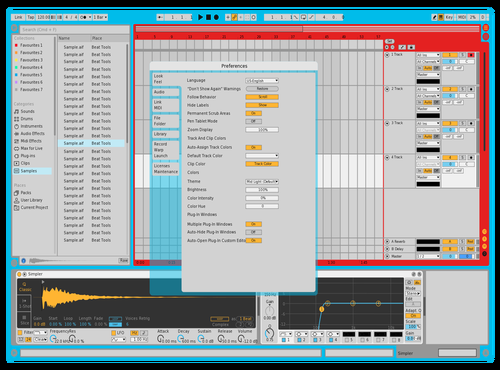 Transparent Theme for Ableton 10 by Andrew Shoemaker